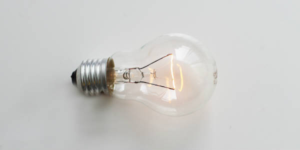 Light bulb on a white background NetSuite Training