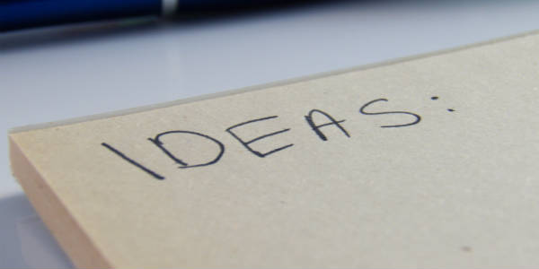 Ideas written on pad. NetSuite Training
